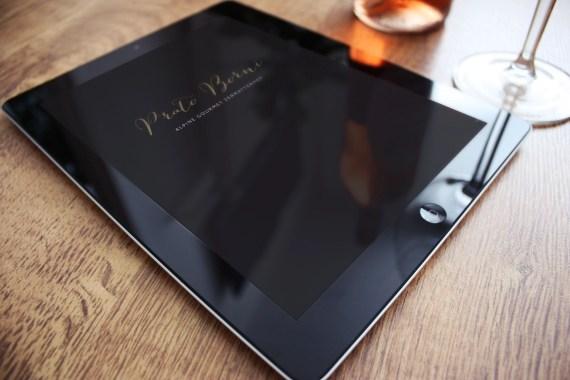 Prato Borni Speisekarte iPad by Werbeagentur Bern Blitz & Donner