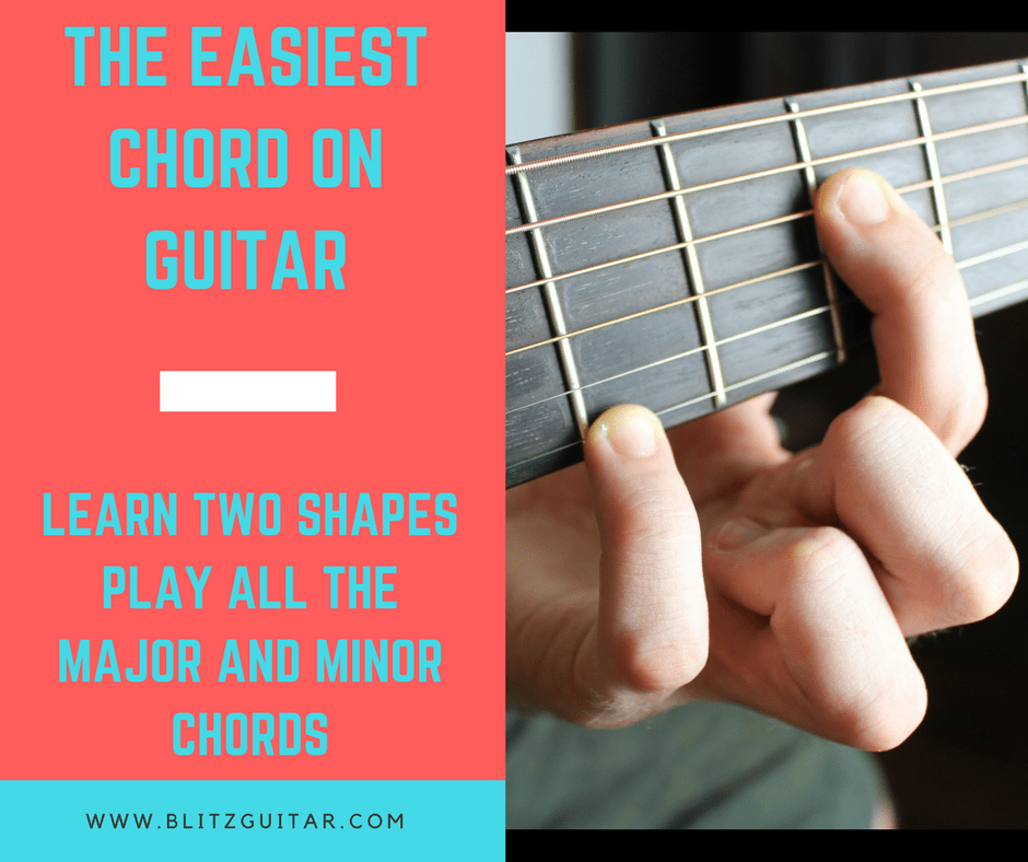 The Easiest Chord On Guitar Two Shapes Play Any Major And Minor
