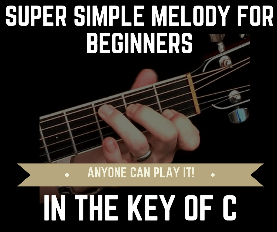 Fingerstyle Melody for Beginners in C major Key