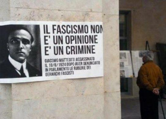 Il fascismo non è un'opinione