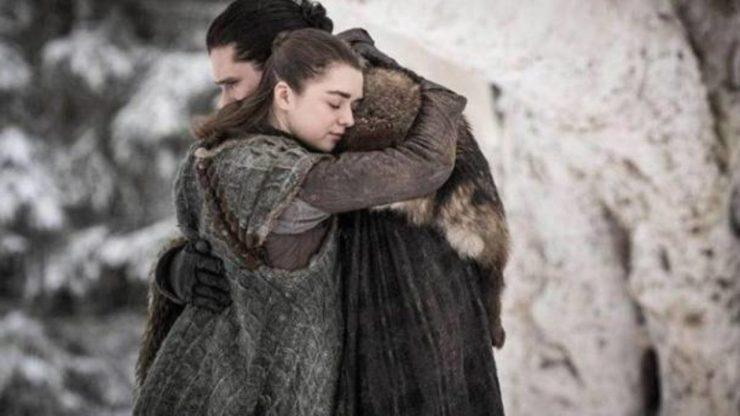 Arya e Jon game of thrones