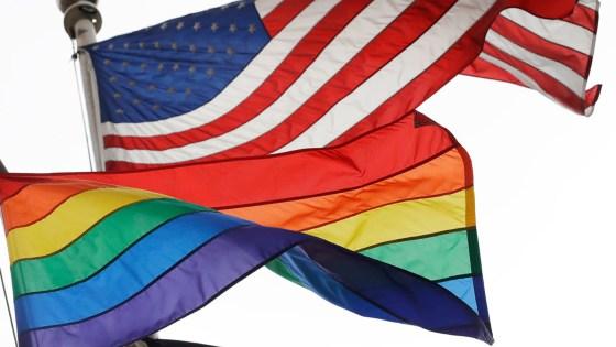 america rainbow flag