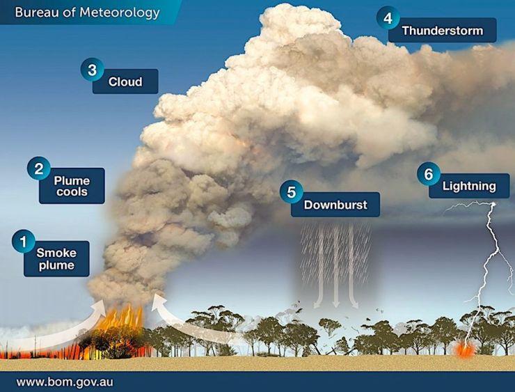 nuvole fumo incendio australia