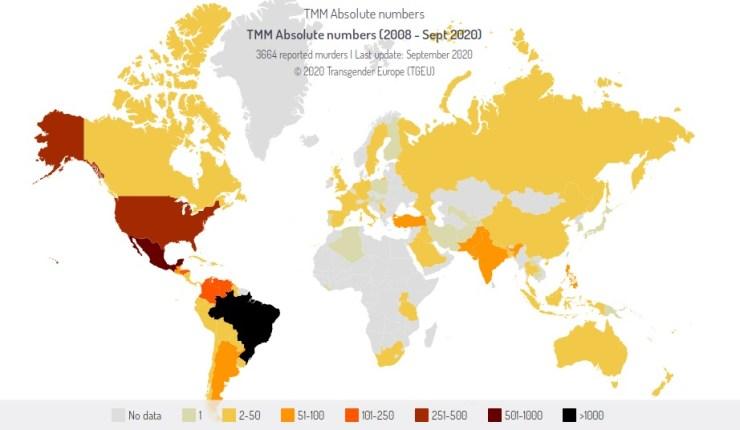 omicidi persone trans mappa