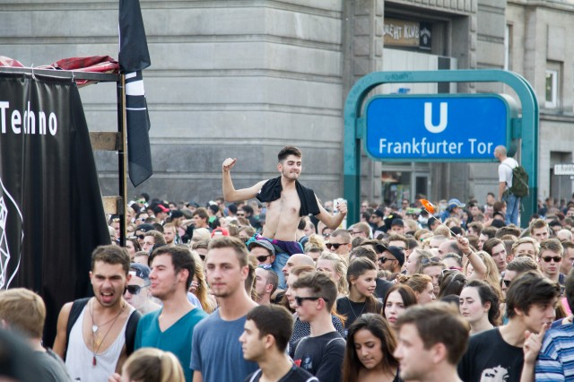 Fuckparade 2014 celebrating in Berlin