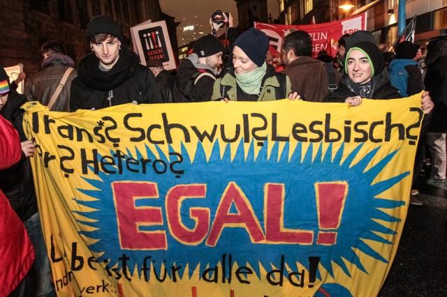05.01.2014 - 18 Uhr - Anti BärGiDa Demo - Klosterstraße - Foto: Patrick Roddelkopf