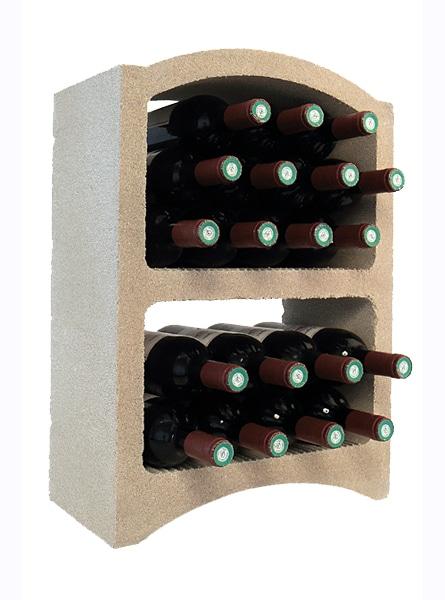 casier a bouteilles de vin pierre blanche 19 bouteilles standard