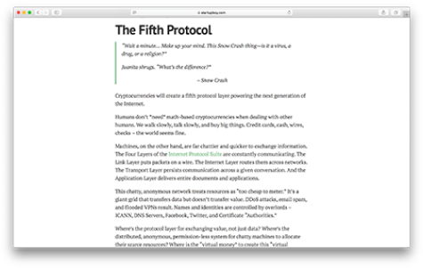 The Fifth Protocol