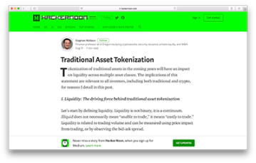 traditional asset tokenization