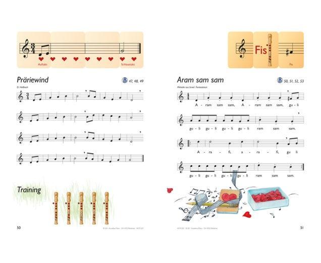 Blockflötenbox Band 1 - Seite 50 und 51