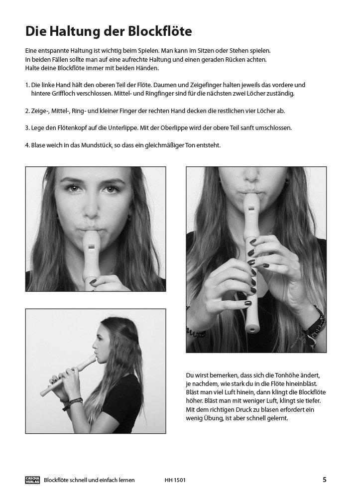 Blockflöte - Schnell und einfach lernen - Haltung der Blockflöte