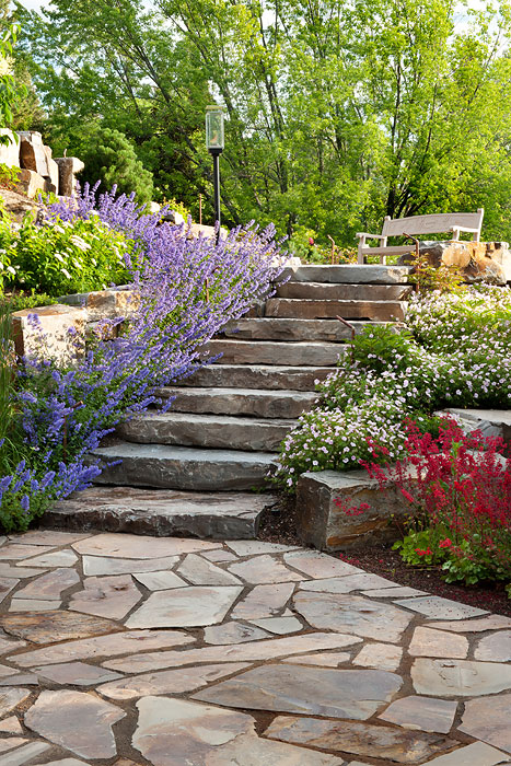 Bronze patio and steps