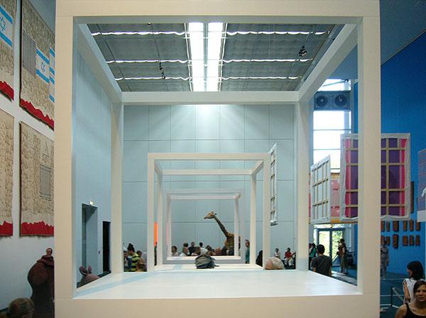 documenta 12 - Cosima von Bonins Block and Peter Friedls Giraffe