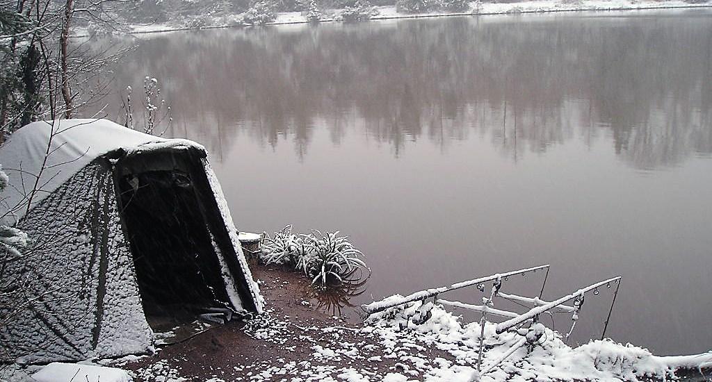 pêcher la carpe en hiver