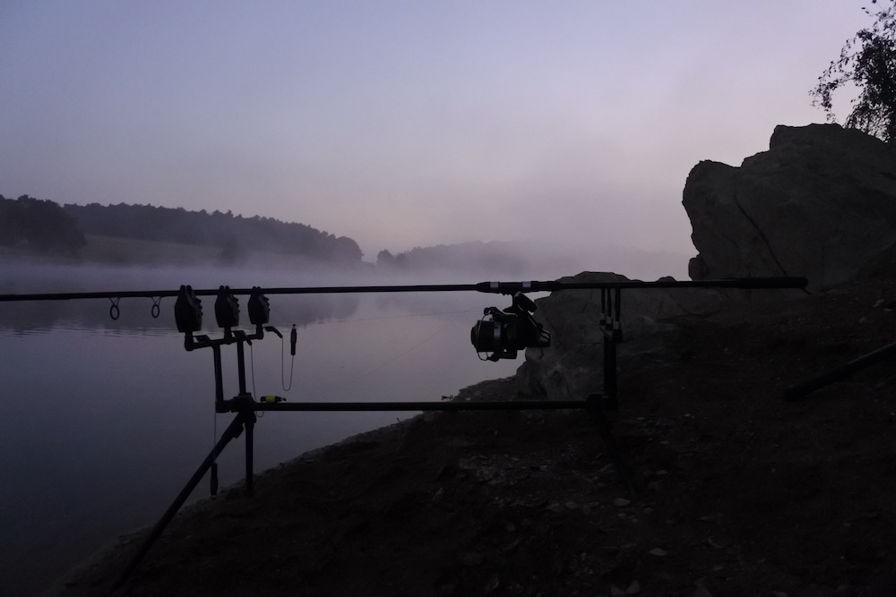 pêche de la carpe en barrage