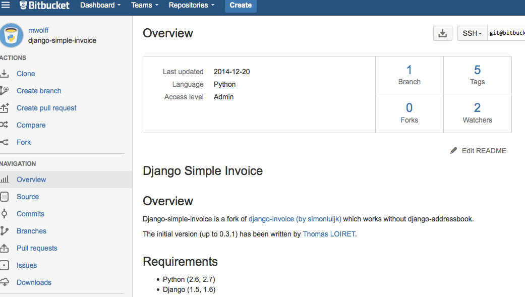 django package simple invoice