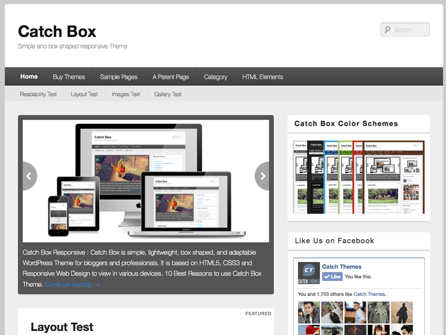 wordpress theme catch box screenshot