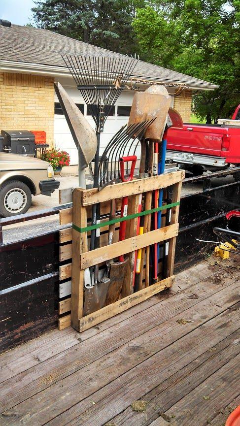pour ranger ses outils de jardin