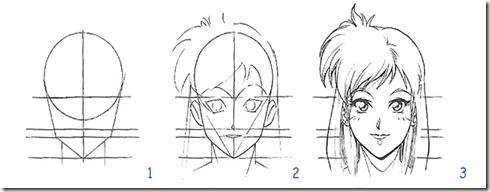dessin visage manga 2