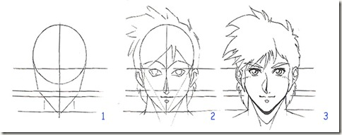 dessin visage manga
