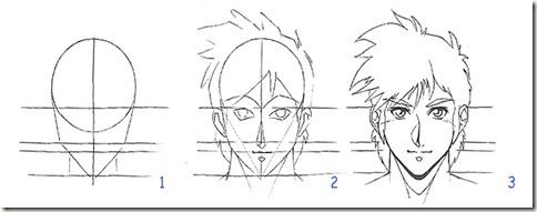 dessin manga visage