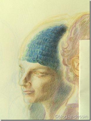 portrait au crayons de couleur 3