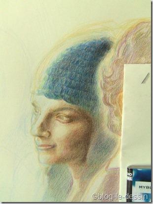 portrait au crayons de couleurs 4