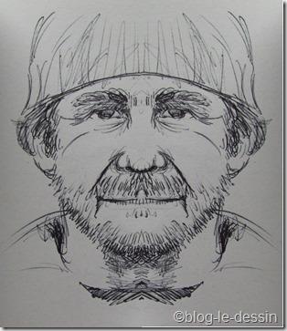 portrait bonnet symétrique
