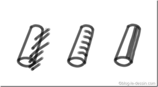différentes lignes pour remplir un dessin
