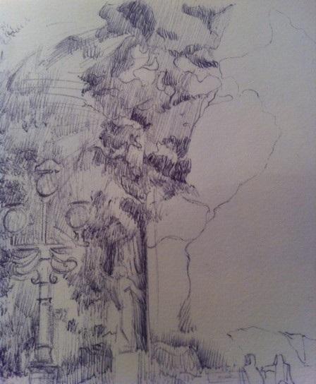 dessiner un paysage