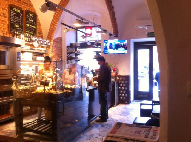 Le café Breadway à Wroclaw