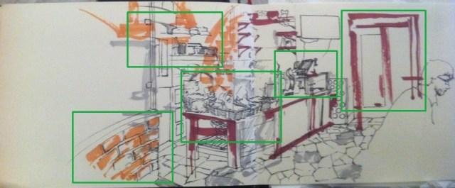 Les points d'attrait du dessin après l'ajout des détails