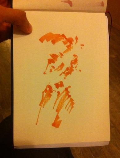 La première étape pour dessiner un portrait en couleur