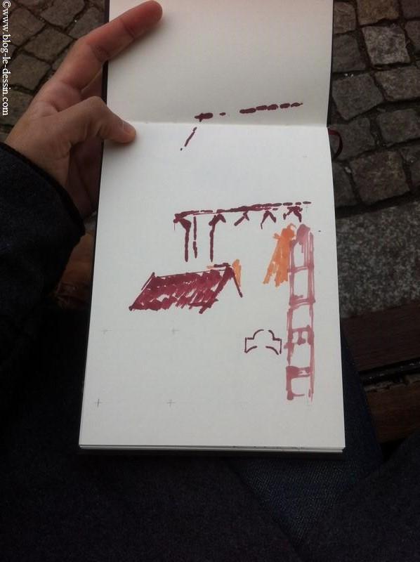 Comment dessiner une église sur le vif
