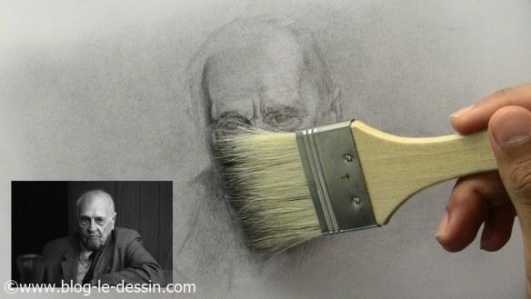 comment dessiner un vieil homme utilisation pinceau