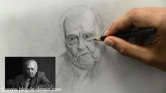 comment dessiner un vieil homme équilibre regard