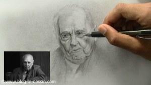 comment dessiner un vieil homme les rides