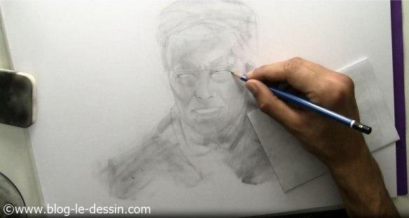 david bowie dessin etapes detail