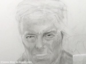 david bowie dessin etapes regard detail
