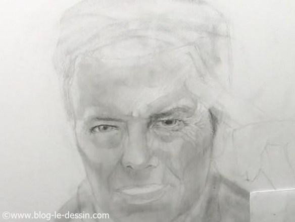 david bowie dessin etapes regard detail