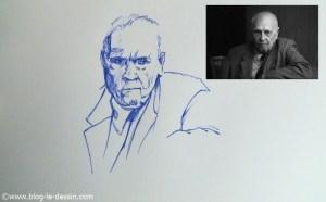 dessin stylo plume portrait partie 5