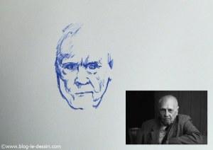 dessin stylo plume portrait partie 3