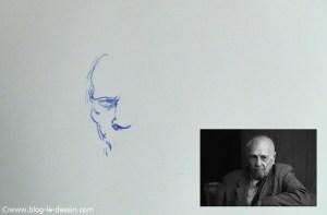 dessin stylo plume portrait partie 1