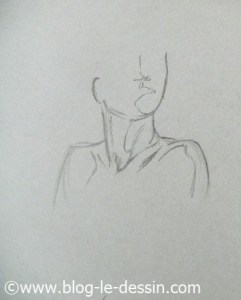 dessiner cou épaules face torsion buste