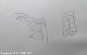 dessiner un nez realiste en contre-plongée 14 plans