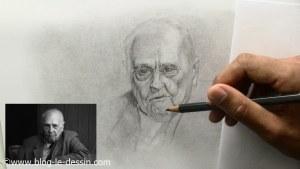 portrait personnes agees dessiner menton sans contraste fort