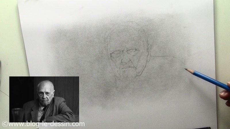 portrait vieux monsieur epaule et composition