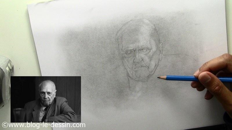 portrait vieux monsieur contour visage