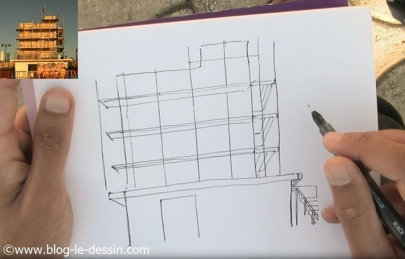 dessiner un batiment facilement etape 2