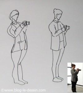 dessin pose dynamique photographe